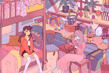 animation scene/background