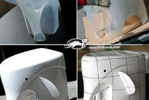 Elefant / DIY, Upcycling, milk bottle