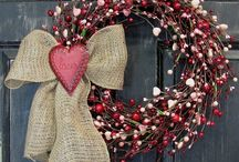 wreaths and mantle