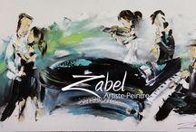 Toiles collection contemporaine / Toiles 100% spatule Boutique en ligne disponible au www.zabel.ca  Livraison internationnale