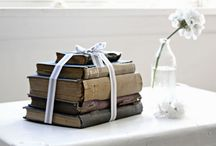 Beach Cottage Sweet Books  / pretty book styling and decorating inspiration  abeachcottage.com / by A Beach Cottage