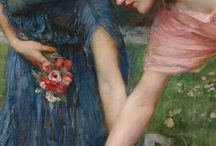 Pre Raphaelite Artists and Paintings / Pre Raphaelite Artists, their paintings and their Muses.
