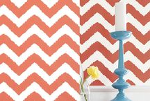Chevron Wallpaper & Interiors