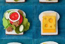 フェルトの食べ物のパターン