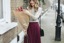 Suede pleat skirt