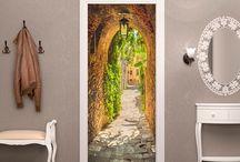 Door wallpapers / Przy użyciu tapety stworzysz magiczne wejście do swojego domowego zakątka! W naszej, różnorodnej galerii na pewno znajdziesz wymarzony dla siebie wzór :)