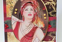Kanban Festive Deco Ladies / Inspiration using the Kanban Festive Deco Ladies Papercraft kit