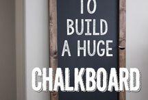 Chulkboard wall