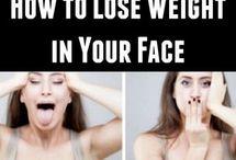 exercício rosto