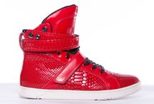 Red High Top Sneakers / Red high top sneakers by Heyday Footwear, the performance high top gym sneaker for the freshest in fitness