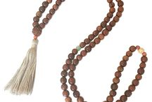 Aromatherapy Malas / Developed to quiet the mind and establish focus on meditation, mala beads are used to count mantras (Sanskrit prayers). The large guru bead provides a starting and ending point on the mala for counting the 108 repetitions in a set.   Wear your Cream Aromatherapy Mala as a necklace or wrap it multiple times around your wrist as a bracelet. Plus, a portion of the proceeds of each purchase will be donated to NAMI (national alliance on mental illness). Made in the USA.