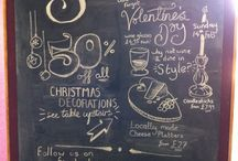 Spotlight On... / Our Spotlight board is where we shine the light on our latest #offers, #events and fresh, exciting #products.   #typography #signs #chalkboard #illustration #handlettered #lettering #shop #handmade