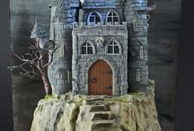 Castle & fantasy dragon's  cakes