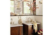 bathroom ideas / by Susan Miller Hasenkamp