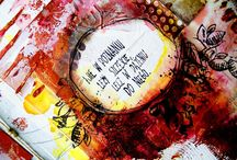 Works with Kasia's stamps {The Scrapbook Diaries}