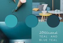 Teal Colour TREND. ITALIANBARK / Inspirations, design news and palettes in teal colour - teal paint ideas - #teal #petrolblue