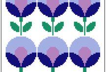 γεωμετρικα λουλουδια 2