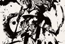 dessin samourai