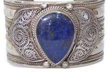 silver bracelet with gemstone