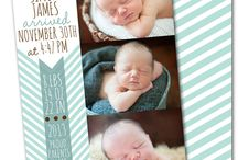 Birth Announcements / baby announcements, modern baby announcements, birth announcements, hello baby, chevron, polka dots, preppy, anything and everything baby