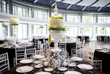 Black, White & Silver / Wedding Decor featuring black, white and silver.