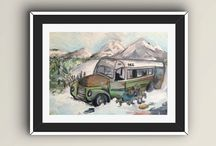 into the wild oil painting