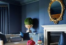 Blue Foyer decor