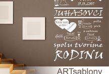 Nové produkty od ARTsablony / Toto všetko sme pre Vás navrhli.
