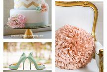 Mint & Gold | Color Trends / Wedding Trends, Inspiration Boards and Custom Stationery Designs by Little Design Shop | www.facebook.com/littledesignshop