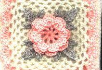 crochet squares / virka pläd m.m.