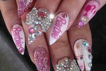 barbie nailart