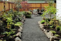 Kitchen Entrance and Lattice Garden