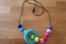 Silicone Teething Necklaces / A beautiful colourful teether that you and your baby will love!  The ring and beads are made from 100% food grade silicone. They are BPA and FDA free making them a great option for your baby as they have no nasties.