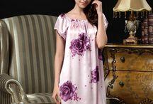Silk Sleepwear / Mulberry Silk Nighties, Mulberry Silk Nightwear, Mulberry Silk Nightshirts, Mulberry Silk Nightdresses, Mulberry Silk Sleepwear.