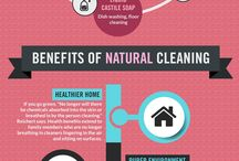 infographics / Cleaning and health related infographics