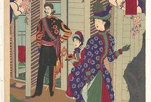 Japanese court fashion 1880's