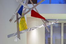 Prism Modern Abstract Hanging Mobile Sculpture / Visit www.abstractmetaldesign.com for more art from Dustin Miller