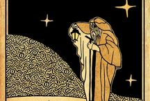 IX The Hermit Tarot Card. / A selection of tarot cards and art that represent The Hermit.