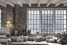 Urban Dwelling / Industrial Chic - Design elements that work with life in the city.