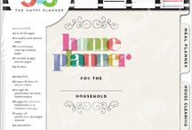 Home Planner Ideas / Tips, resources, printables, ideas for home planner - organization etc