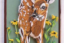 Quilled brown deer