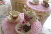 Taarten en cup cakes