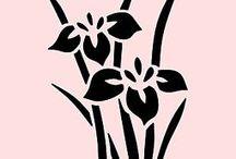 kvety siluety