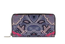 Wallet - Blue Whisper / Women Leather Wallet, Limited Edition Designer Leather Wallet COLOURS OF MY LIFE - Limited Edition wearable art signed by Anca Stefanescu.