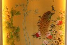 handmade wallpaper peacock