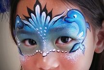 Face paint under the sea theme