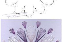 Узоры в технике нитяной графики