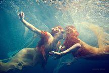Under the sea.