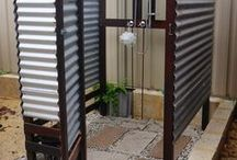 outdoor showers/baths / garden based shower rooms and out door bath tubs