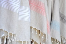 Towels - Linen Bath and Hand / A best seller!  Pure lightweight high quality natural linen is specially blended to create this beautiful fast-drying natural linen bath towel.  A lovely combination of natural flax and cotton making it soft and durable.  Made of unbleached linen and cotton.